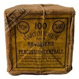 Collectible Ammo: Sealed Brick 100 Cartouches French 9mm Pour Revolvers