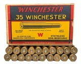 Collectible Ammo: Full Box 20 Rounds of Winchester .35 Winchester 250 Grain Staynless Non-Mercuric For Model 1895 Rifle - 1 of 8