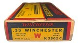 Collectible Ammo: Full Box 20 Rounds of Winchester .35 Winchester 250 Grain Staynless Non-Mercuric For Model 1895 Rifle - 5 of 8