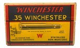 Collectible Ammo: Full Box 20 Rounds of Winchester .35 Winchester 250 Grain Staynless Non-Mercuric For Model 1895 Rifle - 8 of 8