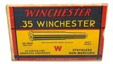 Collectible Ammo: Full Box 20 Rounds of Winchester .35 Winchester 250 Grain Staynless Non-Mercuric For Model 1895 Rifle - 3 of 8