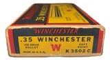 Collectible Ammo: Full Box 20 Rounds of Winchester .35 Winchester 250 Grain Staynless Non-Mercuric For Model 1895 Rifle - 7 of 8