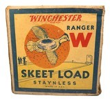 """Collectible Ammo: Partial Box of Winchester Ranger W 12 Ga 2 5/8"""" No 9 Chilled Shot Skeet Load Staynless - 3 of 10"""