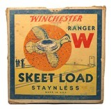 """Collectible Ammo: Partial Box of Winchester Ranger W 12 Ga 2 5/8"""" No 9 Chilled Shot Skeet Load Staynless - 1 of 10"""