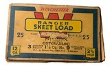 """Collectible Ammo: Partial Box of Winchester Ranger W 12 Ga 2 5/8"""" No 9 Chilled Shot Skeet Load Staynless - 5 of 10"""