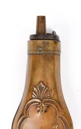 Antique Unmarked Small Powder Flask with Pheasant/Game Bird - 2 of 4