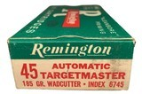 Collectible Ammo: Full Box 50 Cartridges of Remington Automatic TargetMaster 185 GR. Wadcutter REM #6745 - 2 of 7