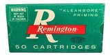 Collectible Ammo: Full Box 50 Cartridges of Remington Automatic TargetMaster 185 GR. Wadcutter REM #6745 - 1 of 7