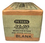 Collectible Ammo: Full Sealed Box 50 Cartridges of Peters .32-20 BLANK Central Fire Rifle - 4 of 6