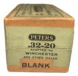Collectible Ammo: Full Sealed Box 50 Cartridges of Peters .32-20 BLANK Central Fire Rifle - 2 of 6