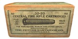 Collectible Ammo: Full Sealed Box 50 Cartridges of Peters .32-20 BLANK Central Fire Rifle - 1 of 6