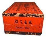Collectible Ammo: Full Unopened Box 50 Cartridges of Eagle Metallic Cartridge Co Germany .38 Smith and Wesson Central Fire - 2 of 6