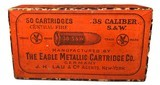 Collectible Ammo: Full Unopened Box 50 Cartridges of Eagle Metallic Cartridge Co Germany .38 Smith and Wesson Central Fire