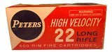 Collectible Ammo: Partial Brick 473 Rounds of Peters Kleanbore High Velocity 22 Long Rifle No. 2283 - 2 of 9