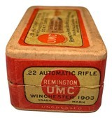 Collectible Ammo: Full Box 50 Rounds of Remington UMC .22 Automatic Rifle for Winchester 1903 - 5 of 7