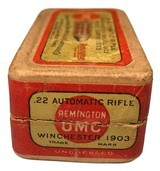Collectible Ammo: Full Box 50 Rounds of Remington UMC .22 Automatic Rifle for Winchester 1903 - 3 of 7