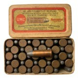 Collectible Ammo: Full Box 50 Rounds of Remington UMC .22 Automatic Rifle for Winchester 1903 - 1 of 7