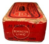 Collectible Ammo: Full Sealed Box 50 Rounds of Remington UMC .32 Short Rimfire - 4 of 5