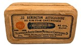 Collectible Ammo: Full Box 50 Rounds of Remington UMC .22 Remington Autoloading 45 Grs REM# 27L - 2 of 6