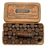 Collectible Ammo: Full Box 50 Rounds of Remington UMC .22 Remington Autoloading 45 Grs REM# 27L - 1 of 6