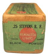 Collectible Ammo: Full Sealed Box 50 Cartridges Remington UMC .25 Stevens R.F. 67 Gr. Black Powder Rem # 56-A - 4 of 6