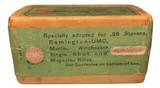 Collectible Ammo: Full Sealed Box 50 Cartridges Remington UMC .25 Stevens R.F. 67 Gr. Black Powder Rem # 56-A - 5 of 6
