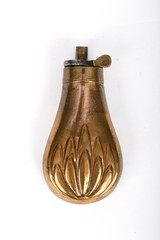 Antique Unmarked Small Powder Flask Bush Pattern - 2 of 6