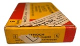 Collectible Ammo: Full Box 5 Kynoch .375 Magnum Flanged Nitro Express Cartridges For Hollands Double Barreled Rifles Copper Capped 300 Grns. Dated 19 - 3 of 10