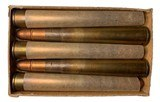 Collectible Ammo: Full Box 5 Kynoch .375 Magnum Flanged Nitro Express Cartridges For Hollands Double Barreled Rifles Copper Capped 300 Grns. Dated 19 - 8 of 10