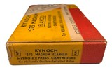 Collectible Ammo: Full Box 5 Kynoch .375 Magnum Flanged Nitro Express Cartridges For Hollands Double Barreled Rifles Copper Capped 300 Grns. Dated 19 - 5 of 10