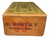 Collectible Ammo: Full Box of 50 Rounds Winchester .38 Short Rim Fire Rifle Cartridges Dated 7-21 Win #52 - 5 of 7