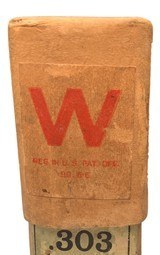 Collectible Ammo: Full Sealed Box 20 Rounds of Winchester .303 Savage Miniature Smokeless - 4 of 5