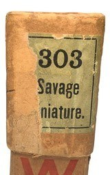 Collectible Ammo: Full Sealed Box 20 Rounds of Winchester .303 Savage Miniature Smokeless - 2 of 5