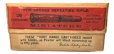 Collectible Ammo: Full Sealed Box 20 Rounds of Winchester .303 Savage Miniature Smokeless - 1 of 5