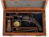 Antique Cased English Bentley Style Percussion Pocket Revolver
