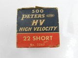 Collectible Ammo: One complete 500-round brick of Peters High Velocity .22 Short No. 2267 - 17 of 17