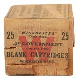 Collectible Ammo: Full Box of 25 Winchester .45 Government (.45-70) Blank Cartridges Custom Factory Load - 5 of 10