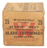 Collectible Ammo: Full Box of 25 Winchester .45 Government (.45-70) Blank Cartridges Custom Factory Load - 3 of 10