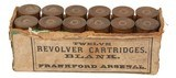 Collectible Ammo: Full Box of 12 Frankford Arsenal Blank Revolver Cartridges - 1 of 7