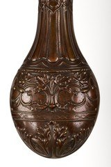 Ornate Antique Powder Flask, Marked on Spout Hawksley - 4 of 10