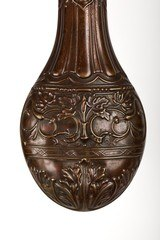 Ornate Antique Powder Flask, Marked on Spout Hawksley - 3 of 10
