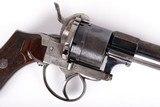 Antique Lefaucheux Patent Double Action Pinfire Revolver - 5 of 15