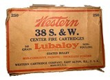 Collectible Ammo: Partial Brick 240 Rounds of Western .38 S&W 145 Grain Lubaloy Ammunition - 1 of 15