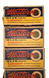 Collectible Ammo: Partial Brick 240 Rounds of Western .38 S&W 145 Grain Lubaloy Ammunition - 10 of 15