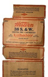 Collectible Ammo: Partial Brick 240 Rounds of Western .38 S&W 145 Grain Lubaloy Ammunition - 15 of 15