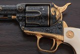"""Magnificent One-of-a-kind Cased Set of 4 Custom Class """"D"""" Master Engraved Colt Single Action Army Revolvers: Grand Slam Series - 11 of 20"""
