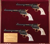 """Magnificent One-of-a-kind Cased Set of 4 Custom Class """"D"""" Master Engraved Colt Single Action Army Revolvers: Grand Slam Series - 1 of 20"""