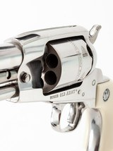 """Stainless Ruger Old Army Percussion Revolver .45, 5-1/2"""" Barrel, Fixed Sights, Provenance: William """"Bill"""" Lett Collection - 4 of 11"""