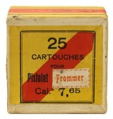 collectible ammo: full sealed box of 25 cartridges, cal. 7,65 frommer