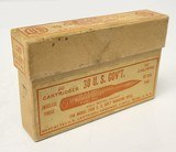 Collectible Ammo: Full Box - 20 Rounds of .30 U.S. Gov't. Smokeless U.S. Cartridge Co. 150gr. Bullet for Model 1906 U. S. Gov't Magazine Rifle
